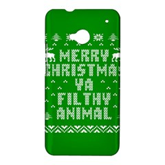 Ugly Christmas Ya Filthy Animal HTC One M7 Hardshell Case