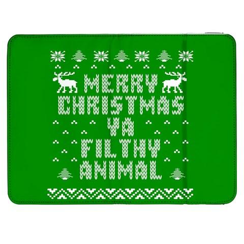 Ugly Christmas Ya Filthy Animal Samsung Galaxy Tab 7  P1000 Flip Case