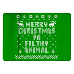 Ugly Christmas Ya Filthy Animal Samsung Galaxy Tab 10.1  P7500 Flip Case