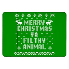 Ugly Christmas Ya Filthy Animal Samsung Galaxy Tab 8.9  P7300 Flip Case