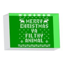 Ugly Christmas Ya Filthy Animal 4 x 6  Acrylic Photo Blocks