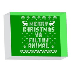 Ugly Christmas Ya Filthy Animal 5 x 7  Acrylic Photo Blocks