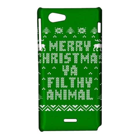Ugly Christmas Ya Filthy Animal Sony Xperia J