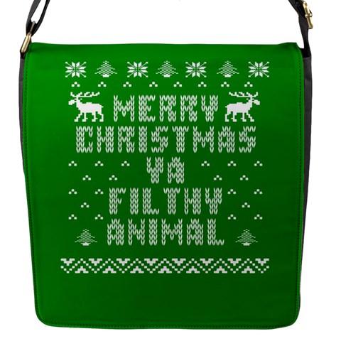 Ugly Christmas Ya Filthy Animal Flap Messenger Bag (S)