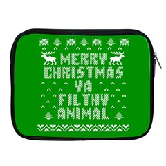 Ugly Christmas Ya Filthy Animal Apple iPad 2/3/4 Zipper Cases