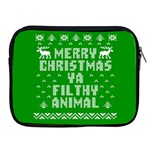 Ugly Christmas Ya Filthy Animal Apple iPad 2/3/4 Zipper Cases Front