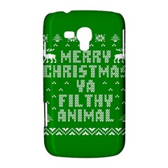 Ugly Christmas Ya Filthy Animal Samsung Galaxy Duos I8262 Hardshell Case