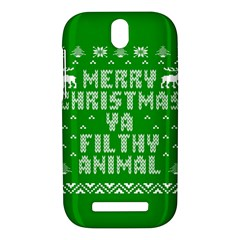 Ugly Christmas Ya Filthy Animal HTC One SV Hardshell Case