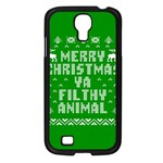 Ugly Christmas Ya Filthy Animal Samsung Galaxy S4 I9500/ I9505 Case (Black) Front