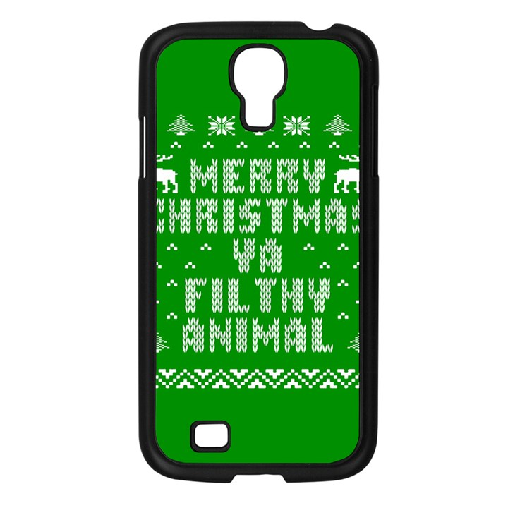 Ugly Christmas Ya Filthy Animal Samsung Galaxy S4 I9500/ I9505 Case (Black)