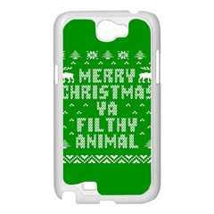 Ugly Christmas Ya Filthy Animal Samsung Galaxy Note 2 Case (White)