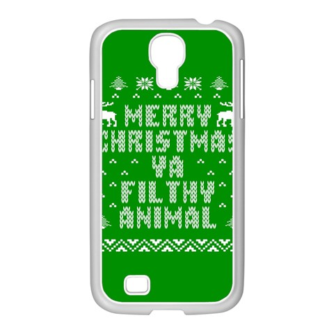 Ugly Christmas Ya Filthy Animal Samsung GALAXY S4 I9500/ I9505 Case (White)
