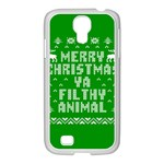 Ugly Christmas Ya Filthy Animal Samsung GALAXY S4 I9500/ I9505 Case (White) Front