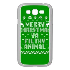 Ugly Christmas Ya Filthy Animal Samsung Galaxy Grand Duos I9082 Case (white)
