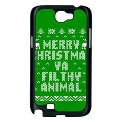Ugly Christmas Ya Filthy Animal Samsung Galaxy Note 2 Case (Black)