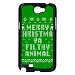 Ugly Christmas Ya Filthy Animal Samsung Galaxy Note 2 Case (Black) Front