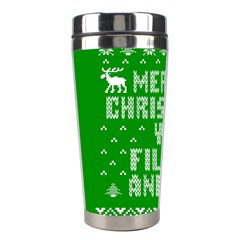 Ugly Christmas Ya Filthy Animal Stainless Steel Travel Tumblers