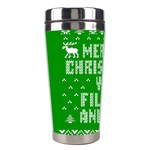 Ugly Christmas Ya Filthy Animal Stainless Steel Travel Tumblers Left