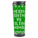 Ugly Christmas Ya Filthy Animal Travel Tumbler Center