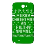 Ugly Christmas Ya Filthy Animal Samsung Note 2 N7100 Hardshell Back Case Front
