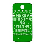 Ugly Christmas Ya Filthy Animal Samsung Galaxy S4 I9500/I9505  Hardshell Back Case Front