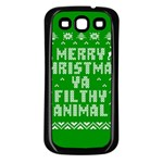 Ugly Christmas Ya Filthy Animal Samsung Galaxy S3 Back Case (Black) Front