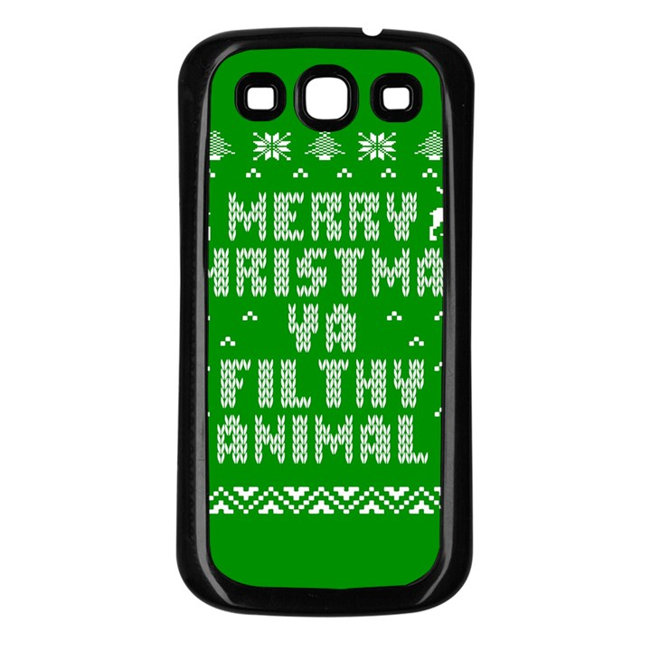 Ugly Christmas Ya Filthy Animal Samsung Galaxy S3 Back Case (Black)