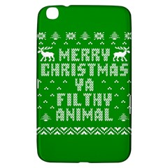 Ugly Christmas Ya Filthy Animal Samsung Galaxy Tab 3 (8 ) T3100 Hardshell Case