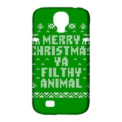 Ugly Christmas Ya Filthy Animal Samsung Galaxy S4 Classic Hardshell Case (PC+Silicone)