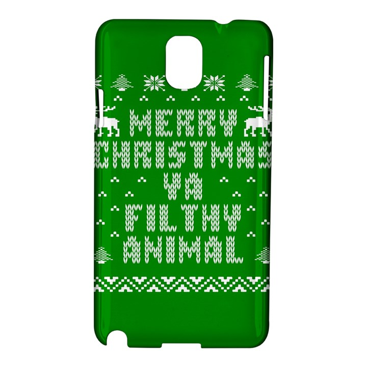 Ugly Christmas Ya Filthy Animal Samsung Galaxy Note 3 N9005 Hardshell Case
