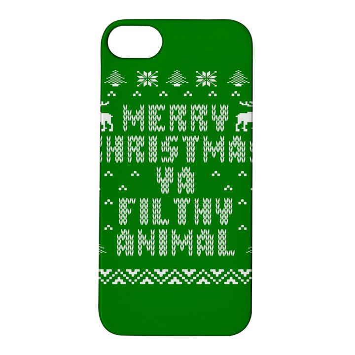 Ugly Christmas Ya Filthy Animal Apple iPhone 5S/ SE Hardshell Case