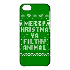 Ugly Christmas Ya Filthy Animal Apple iPhone 5C Hardshell Case