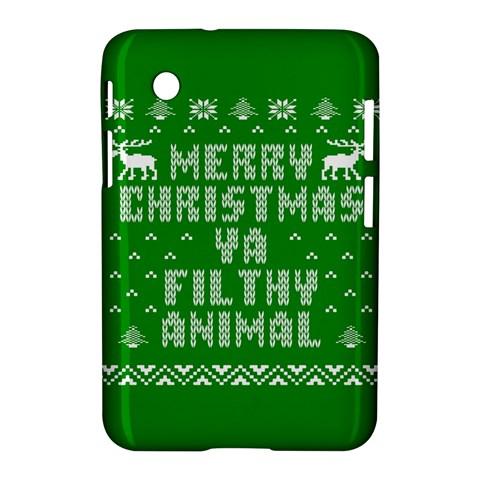 Ugly Christmas Ya Filthy Animal Samsung Galaxy Tab 2 (7 ) P3100 Hardshell Case