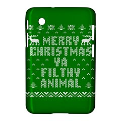Ugly Christmas Ya Filthy Animal Samsung Galaxy Tab 2 (7 ) P3100 Hardshell Case