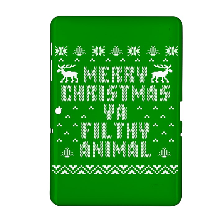 Ugly Christmas Ya Filthy Animal Samsung Galaxy Tab 2 (10.1 ) P5100 Hardshell Case