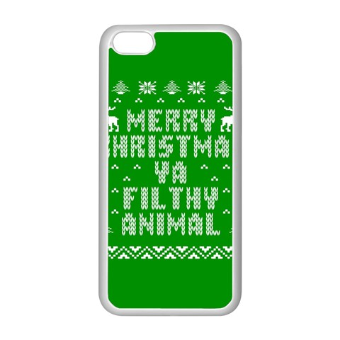 Ugly Christmas Ya Filthy Animal Apple iPhone 5C Seamless Case (White)