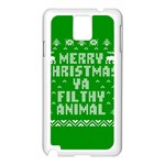 Ugly Christmas Ya Filthy Animal Samsung Galaxy Note 3 N9005 Case (White) Front