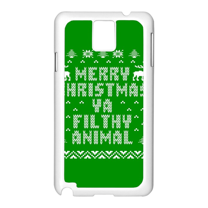 Ugly Christmas Ya Filthy Animal Samsung Galaxy Note 3 N9005 Case (White)