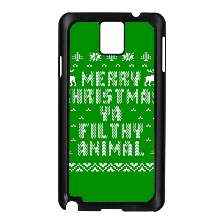 Ugly Christmas Ya Filthy Animal Samsung Galaxy Note 3 N9005 Case (Black)