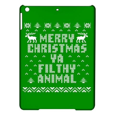 Ugly Christmas Ya Filthy Animal iPad Air Hardshell Cases