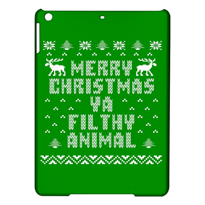 Ugly Christmas Ya Filthy Animal iPad Air Hardshell Cases