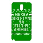 Ugly Christmas Ya Filthy Animal Samsung Galaxy Note 3 N9005 Hardshell Back Case Front