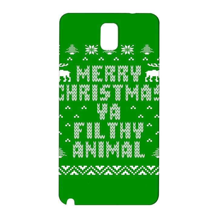 Ugly Christmas Ya Filthy Animal Samsung Galaxy Note 3 N9005 Hardshell Back Case