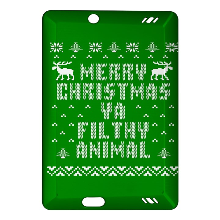 Ugly Christmas Ya Filthy Animal Amazon Kindle Fire HD (2013) Hardshell Case