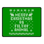 Ugly Christmas Ya Filthy Animal Double Sided Fleece Blanket (Small)  50 x40 Blanket Front