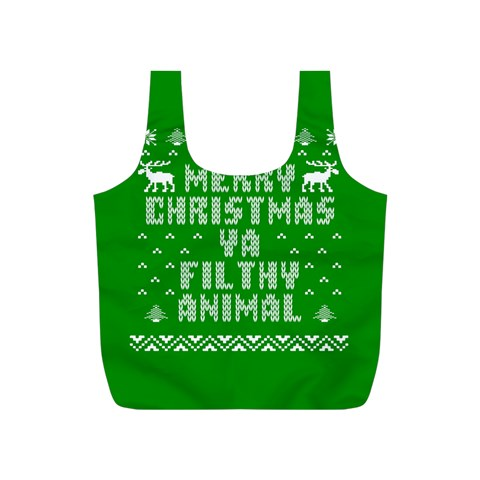 Ugly Christmas Ya Filthy Animal Full Print Recycle Bags (S)