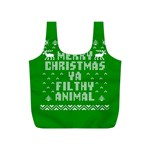 Ugly Christmas Ya Filthy Animal Full Print Recycle Bags (S)  Back