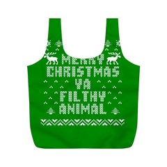 Ugly Christmas Ya Filthy Animal Full Print Recycle Bags (M)