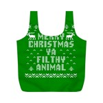 Ugly Christmas Ya Filthy Animal Full Print Recycle Bags (M)  Back