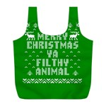 Ugly Christmas Ya Filthy Animal Full Print Recycle Bags (L)  Back